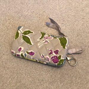 """Grey Floral Vera Bradley """"Watercolor"""" Wristlet"""